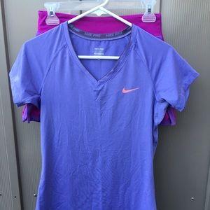 Nike running skirt and matching shirt
